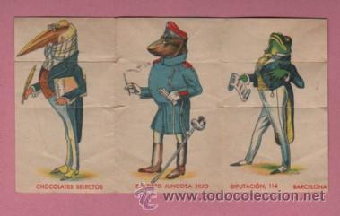 Coleccionismo Cromos antiguos: CROMO CONVERTIBLE - CHOCOLATES EVARISTO JUNCOSA HIJO - Foto 2 - 143575329