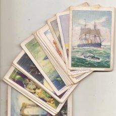 Coleccionismo Cromos antiguos: VEINTE MIL LEGUAS DE VIAJE SUBMARINO. 35 CROMOS ANTIGUOS. Lote 52906816