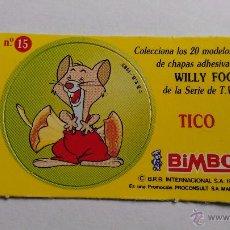Coleccionismo Cromos antiguos: CROMO CHAPA DE TICO LA VUELTA AL MUNDO DE WILLY FOG BIMBO Nº 15. Lote 52961949