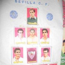 Coleccionismo Cromos antiguos: POLLUELOS DEL ALBUM Nº 4 CROMOS PLANTILLA SEVILLA CLUB FUTBOL TEMPORADA 1953 54. Lote 53272144