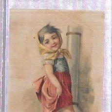 Coleccionismo Cromos antiguos: CROMO INFANTIL DEL SIGLO XIX. FARMACIA DEL LDO. J. A. BUENO.. Lote 53348426