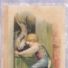 Coleccionismo Cromos antiguos: CROMO INFANTIL DEL SIGLO XIX. FARMACIA DEL LDO. J. A. BUENO.. Lote 53348456