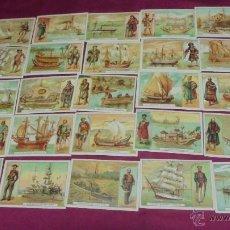 Coleccionismo Cromos antiguos: 25 CROMOS DE BUQUES ANTIGUOS. DEL Nº 1 AL Nº 25. . Lote 53400984