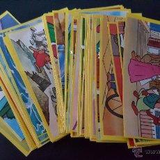 Coleccionismo Cromos antiguos: LOTE DE CROMOS DESPEGADOS-LA VUELTA AL MUNDO DE WILLY FOG-DANONE. Lote 54117225