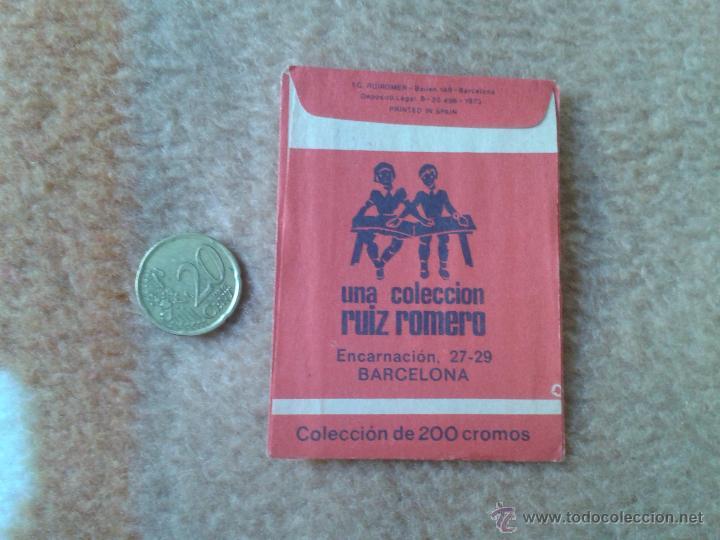 Coleccionismo Cromos antiguos: SOBRE DE CROMOS SIN ABRIR MIS CUENTOS 2 RUIZ ROMERO BARCELONA 1973 IDEAL COLECCION VER FOTO Y DESCRI - Foto 2 - 54159152