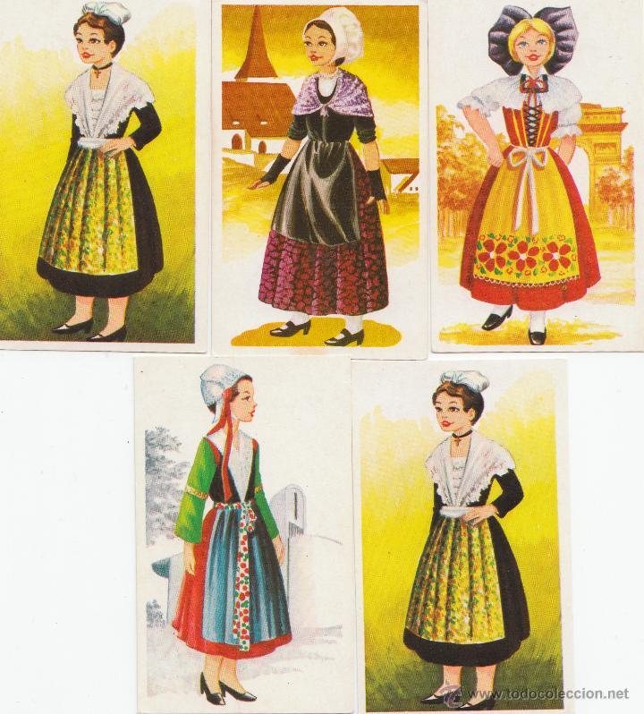 5 cromos de la colecci n trajes t picos de la e comprar for Tipico de francia