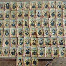Coleccionismo Cromos antiguos: 75 CROMOS FOTOTIPIA SERIE 28 PRINCIPIOS SIGLO XX PERSONAJES CELEBRES . Lote 54491810