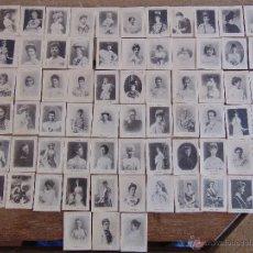 Coleccionismo Cromos antiguos: 75 CROMOS FOTOTIPIA SERIE 33 PRINCIPIOS SIGLO XX REINAS Y BURGUESIA. Lote 54492173