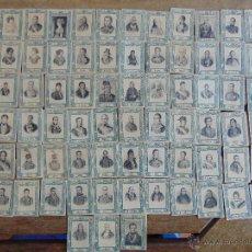 Coleccionismo Cromos antiguos: 75 CROMOS FOTOTIPIA SERIE 31 PRINCIPIOS SIGLO XX MILITARES Y POLITICOS . Lote 54492385