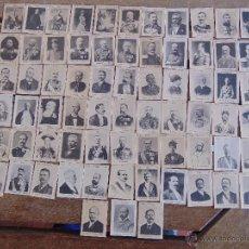 Coleccionismo Cromos antiguos: 75 CROMOS FOTOTIPIA SERIE 32 PRINCIPIOS SIGLO XX REYES GOBERNANTES DEL MUNDO . Lote 54492561