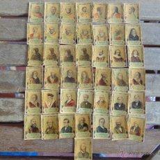 Coleccionismo Cromos antiguos: 43 CROMOS FOTOTIPIA SERIE 24 PRINCIPIOS SIGLO XX ANTIGUOS GOBERNANTES . Lote 54493196