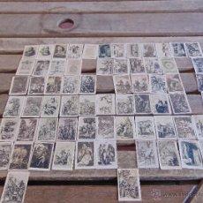 Coleccionismo Cromos antiguos: 68 CROMOS FOTOTIPIAS SERIE ESPECIAL PRINCIPIOS SIGLO XX EL QUIJOTE CERVANTES. Lote 54500606