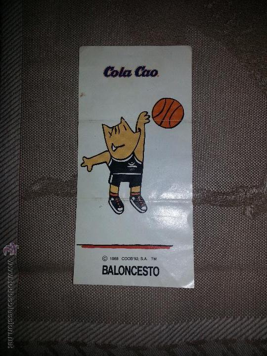 CROMOS COLA CAO COBI BALONCESTO 1988 (Coleccionismo - Cromos y Álbumes - Cromos Antiguos)