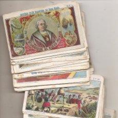 Coleccionismo Cromos antiguos: CRISTÓBAL COLÓN DESCUBRIDOR DEL NUEVO MUNDO. 59 CROMOS ANTIGUOS. Lote 54680410