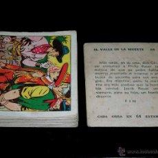 Coleccionismo Cromos antiguos: 46 CROMOS ALBUM *EL COYOTE VALLE DE LA MUERTE* CROMO ESTAMPA CARTÓN SIN PEGAR, AÑOS 50. SUELTOS A 2€. Lote 54709927