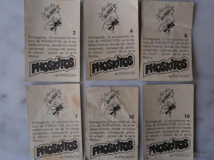 Coleccionismo Cromos antiguos: PHOSKITOS DE PHOSCAO ANTIGUOs CROMOs SERIE MOTOS 6 cromos - Foto 2 - 54804834