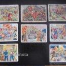 Coleccionismo Cromos antiguos: 110 CROMOS DE LA HISTORIA DE CATALUÑA CATALUNYA - AÑOS 30 - CHOCOLATES XOCOLATA JUNCOSA - NUMEROS 1,. Lote 54854137
