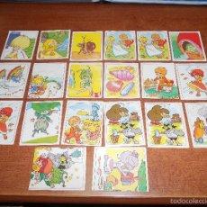 Coleccionismo Cromos antiguos: LOTE DE 20 CROMOS PEGATINA DE RAINBOW BRITE ARCO IRIS PANINI DE 1986 . Lote 55135542
