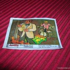 Coleccionismo Cromos antiguos: CROMO DE CHICLE DUNKIN.PROFESIONES -CANTANTE. Lote 55354436