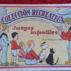 Coleccionismo Cromos antiguos: RARA Y DIFICIL COLECCION DE CROMOS - 12 CROMOS - COLECCION RECREATIVA - JUEGOS INFANTILES. Lote 55371445