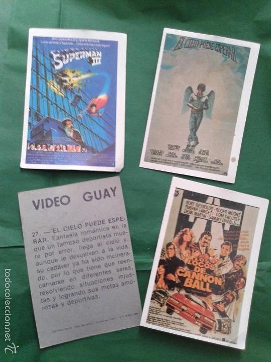 LOTE DE 4 CROMOS SUELTOS COLECCIÓN VIDEO GUAY (ED. DALSA 1984) (Coleccionismo - Cromos y Álbumes - Cromos Antiguos)