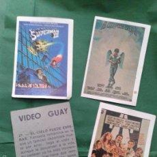 Coleccionismo Cromos antiguos: LOTE DE 4 CROMOS SUELTOS COLECCIÓN VIDEO GUAY (ED. DALSA 1984). Lote 55379581