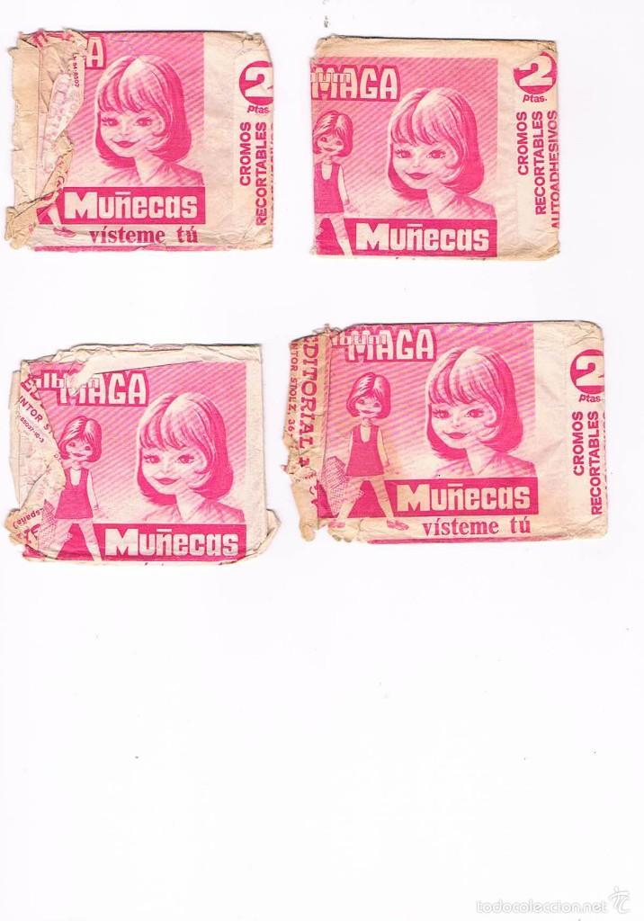 LOTE 4 SOBRES CROMOS MUÑECAS VÍSTEME TU VACÍOS ALBUM MAGA ESTADO EL QUE SE VE EN LAS FOTOS (Coleccionismo - Cromos y Álbumes - Cromos Antiguos)