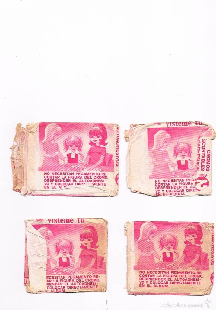 Coleccionismo Cromos antiguos: LOTE 4 SOBRES CROMOS MUÑECAS VÍSTEME TU VACÍOS ALBUM MAGA ESTADO EL QUE SE VE EN LAS FOTOS - Foto 2 - 55867471