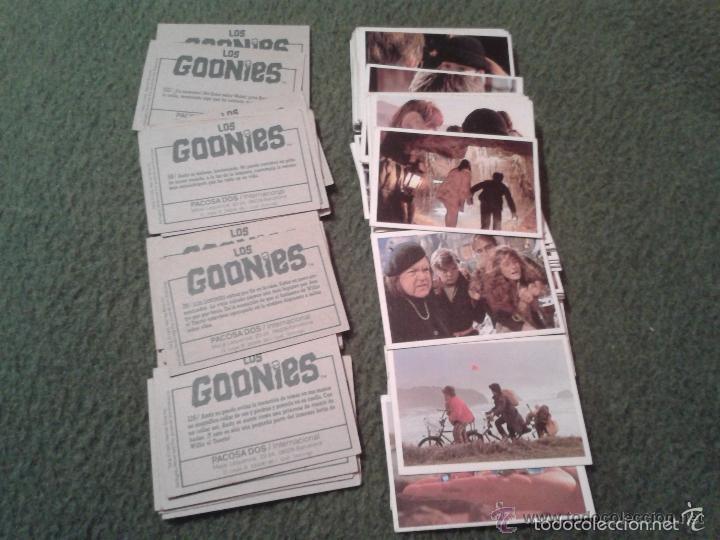LOTE DE 58 CROMOS COLECCIÓN LOS GOONIES PACOSA DOS 1985 NUNCA PEGADOS. SUELTOS A 0,94 EUROS. IDEAL C (Coleccionismo - Cromos y Álbumes - Cromos Antiguos)