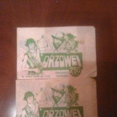 Coleccionismo Cromos antiguos: 2 SOBRES SIN ABRIR ORZOWEI EDICIONES QUELCOM AÑO 1978. Lote 56507867