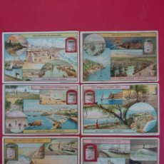 Coleccionismo Cromos antiguos: LOTE DE 6 CROMOS - VERO ESTRATTO DI CARNE LIEBIG - COSTE FRANCESI...R-2495. Lote 56647606