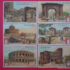 Coleccionismo Cromos antiguos: LOTE DE 6 CROMOS - VERO ESTRATTO DI CARNE LIEBIG - EDIFI ROMANI ANTICHI...R-2496. Lote 56647697