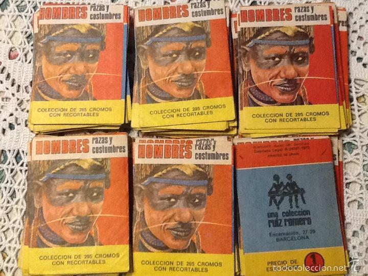 25 SOBRES SIN ABRIR HOMBRES Y RAZAS 1972 RUIZ ROMERO (Coleccionismo - Cromos y Álbumes - Cromos Antiguos)
