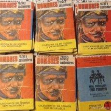 Coleccionismo Cromos antiguos: 25 SOBRES SIN ABRIR HOMBRES Y RAZAS 1972 RUIZ ROMERO . Lote 56746802