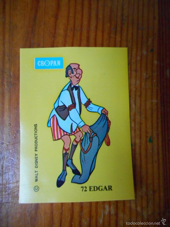 EDGAR, CROMO NÚMERO 72 ÁLBUM CROPAN VUELA CON PETER PAN Y CONOCE A SUS AMIGOS. BUEN ESTADO (Coleccionismo - Cromos y Álbumes - Cromos Antiguos)