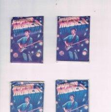 Coleccionismo Cromos antiguos: LOTE 4 SOBRES CROMOS SUPER MUSICAL EDICIONES EYDER SUPERMUSICAL SIN ABRIR. Lote 56897116
