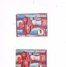 Coleccionismo Cromos antiguos: LOTE 2 SOBRES CROMOS EL MAR FUENTE DE VIDA RUIZ ROMERO SIN ABRIR CERRADO ANTIGUO. Lote 56943993