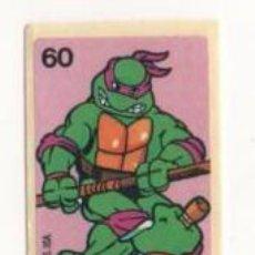Coleccionismo Cromos antiguos: CROMO CHICLE TORTUGAS NINJA 1989 USA NUMERO 60. Lote 57335263