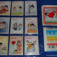 Coleccionismo Cromos antiguos: LOVE IS - STICKLINE ¡COLECCIÓN COMPLETA SIN PEGAR!. Lote 57455281