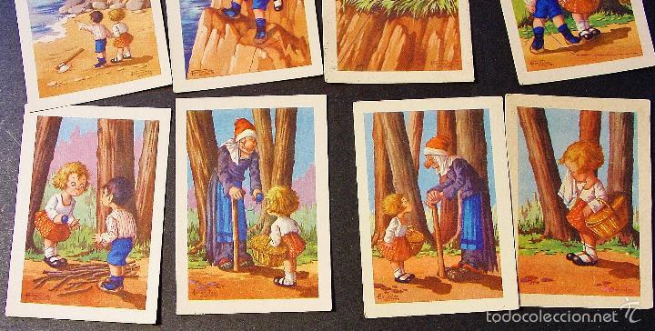 Coleccionismo Cromos antiguos: UN BUEN REMEDIO. JUAN BARGUÑO Y CIA. SERIE 1 COMPLETA. 12 CROMOS - Foto 3 - 57572179