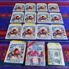 Coleccionismo Cromos antiguos: 57 SOBRES SOBRE VACÍO 2 CON CROMOS AÑOS 50 A 80 SUPERMAN FHER SPIDERMAN PACOSA 2 DOS AMPLIADO 7-6-19. Lote 45516428