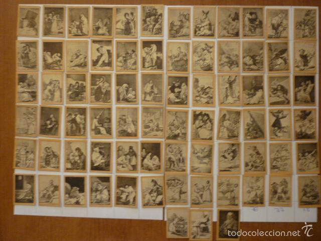 COLECCION FOTOTIPIAS SERIE 29 LOS CAPRICHOS DE GOYA COMPLETA. (Coleccionismo - Cromos y Álbumes - Cromos Antiguos)