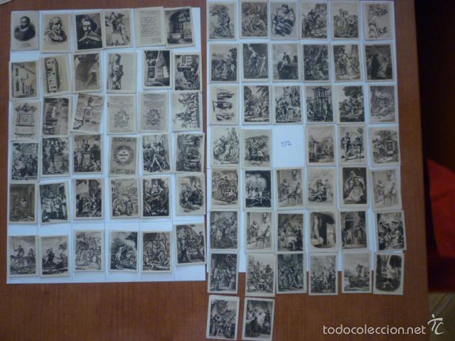 COLECCION FOTOTIPIA DEL QUIJOTE. FALTA NUMERO 57. (Coleccionismo - Cromos y Álbumes - Cromos Antiguos)