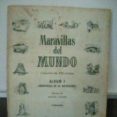 Coleccionismo Cromos antiguos: MARAVILLAS DEL MUNDO. ALBUM I MARAVILLAS DE LA NATURALEZA. MIGUEL CONDE. BRUGUERA 1ª EDICION 1956.. Lote 58108393
