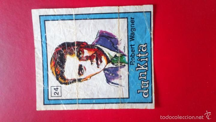 DUNKIN DUNKITA ROSTROS FAMOSOS. N 24 ROBERT WAGNER (Coleccionismo - Cromos y Álbumes - Cromos Antiguos)