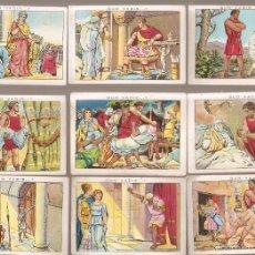 Coleccionismo Cromos antiguos: 17 CROMOS QUO VADIS. CHOCOLATE AMATLLER. VER NUMEROS. - VELL I BELL. Lote 58247996