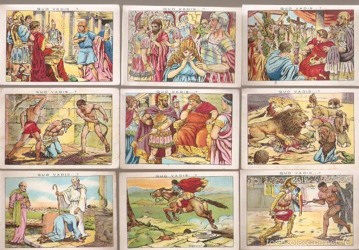 Coleccionismo Cromos antiguos: 17 cromos QUO VADIS. Chocolate Amatller. ver numeros. - VELL I BELL - Foto 2 - 58247996