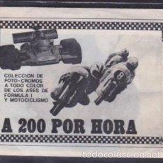 Coleccionismo Cromos antiguos: SOBRE CROMOS A 200 POR HORA EDIPRESS. Lote 58263559