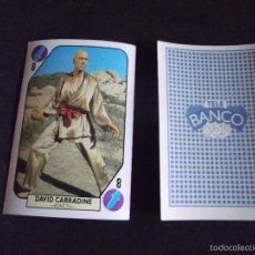 Coleccionismo Cromos antiguos - TELE BANCO POP-V41-CROMO-CARTA-DAVID CARRADINE - 58530114