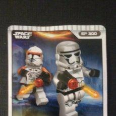 Coleccionismo Cromos antiguos: CROMO TARJETA LEGO STAR WARS GUERRA DESPERTAR FUERZA COMPATIBLE (2). Lote 58638654